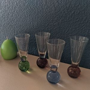 4 mini Martini shot glasses